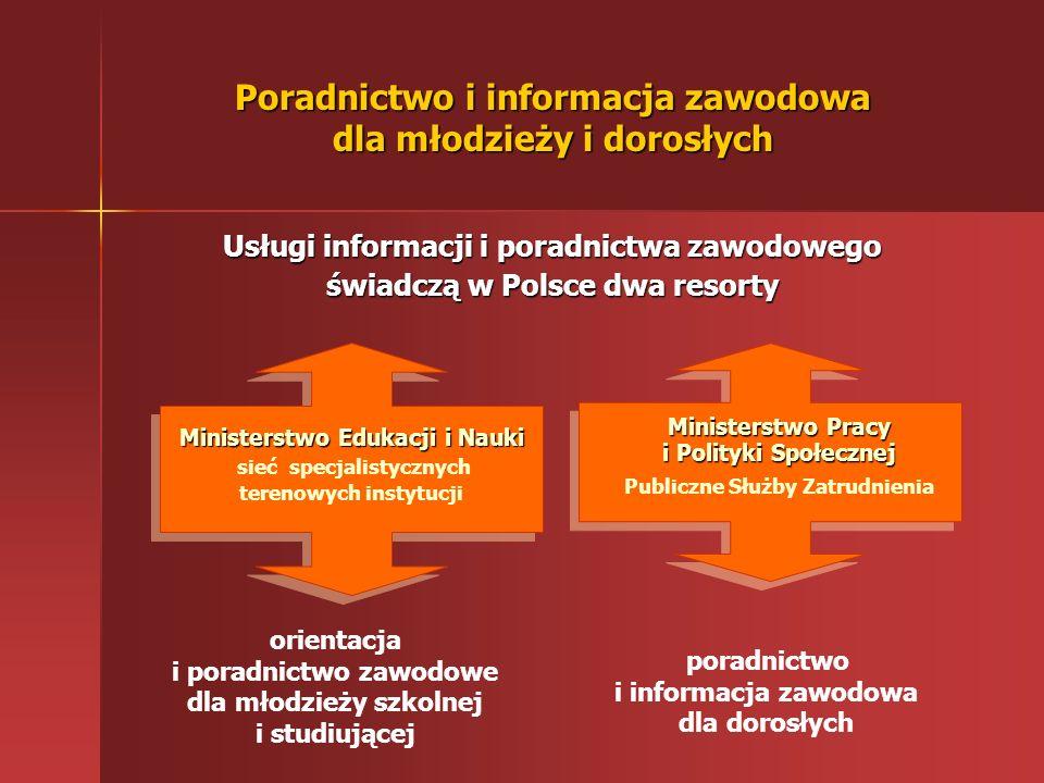 Poradnictwo i informacja zawodowa dla młodzieży i dorosłych