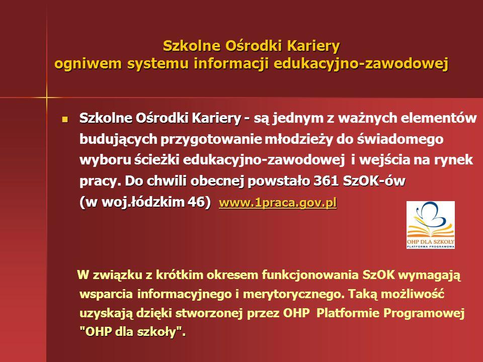 Szkolne Ośrodki Kariery ogniwem systemu informacji edukacyjno-zawodowej