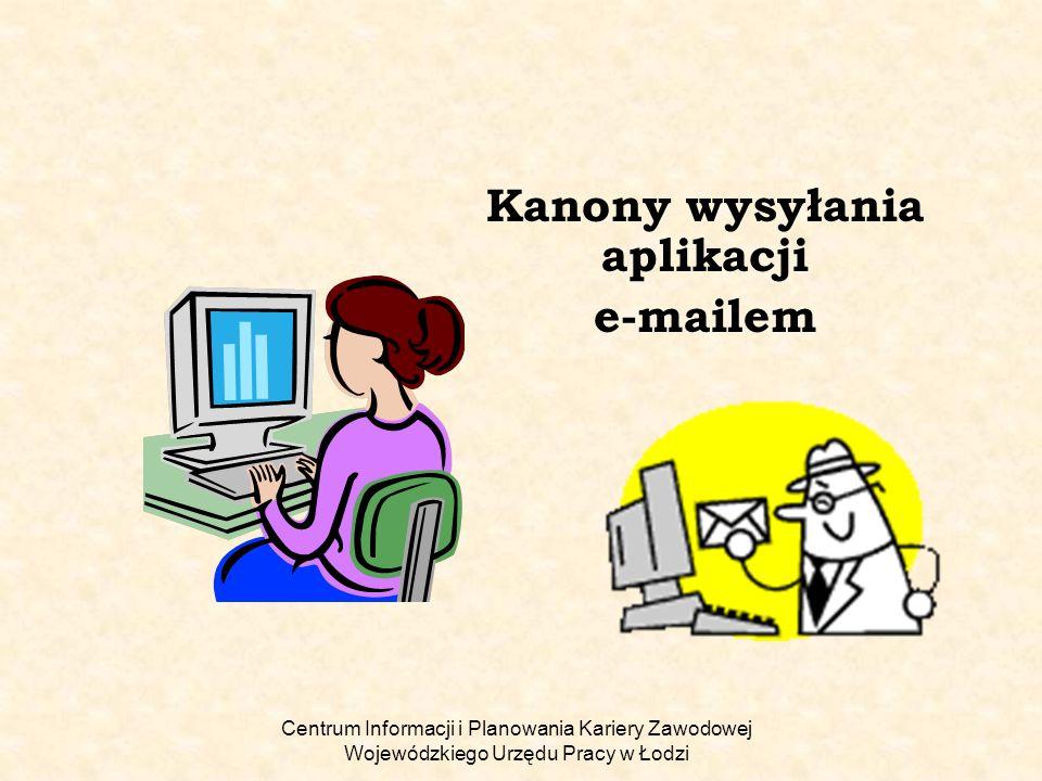 Kanony wysyłania aplikacji e-mailem