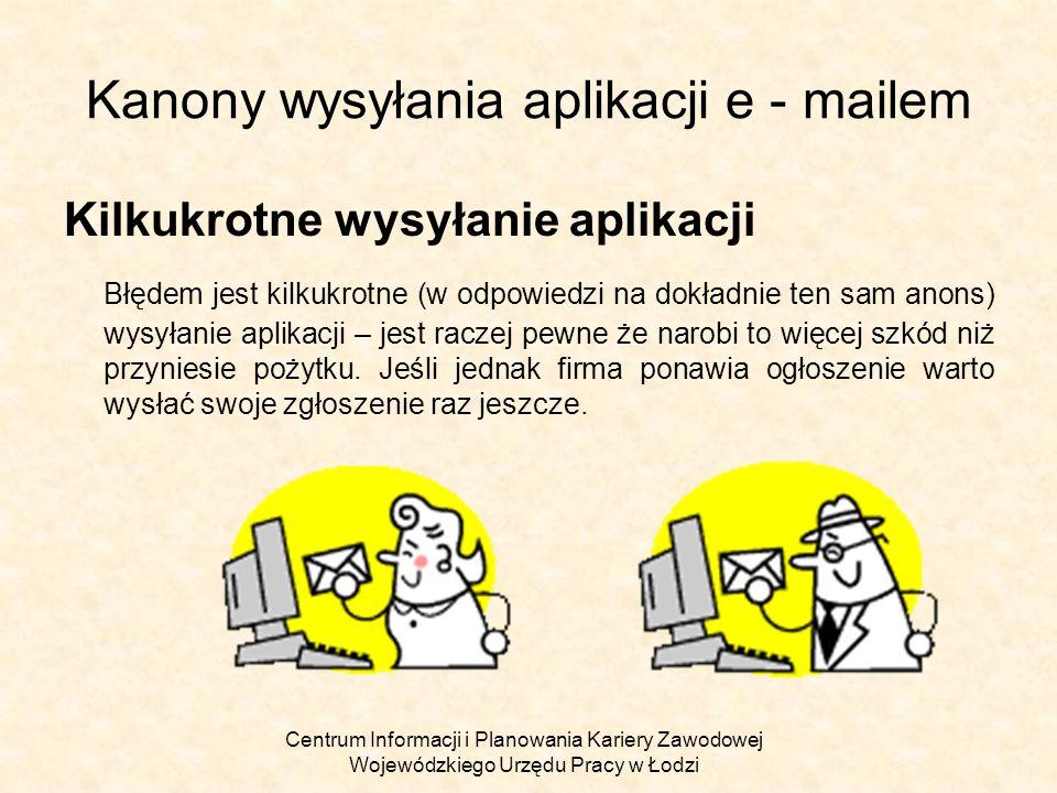 Kanony wysyłania aplikacji e - mailem