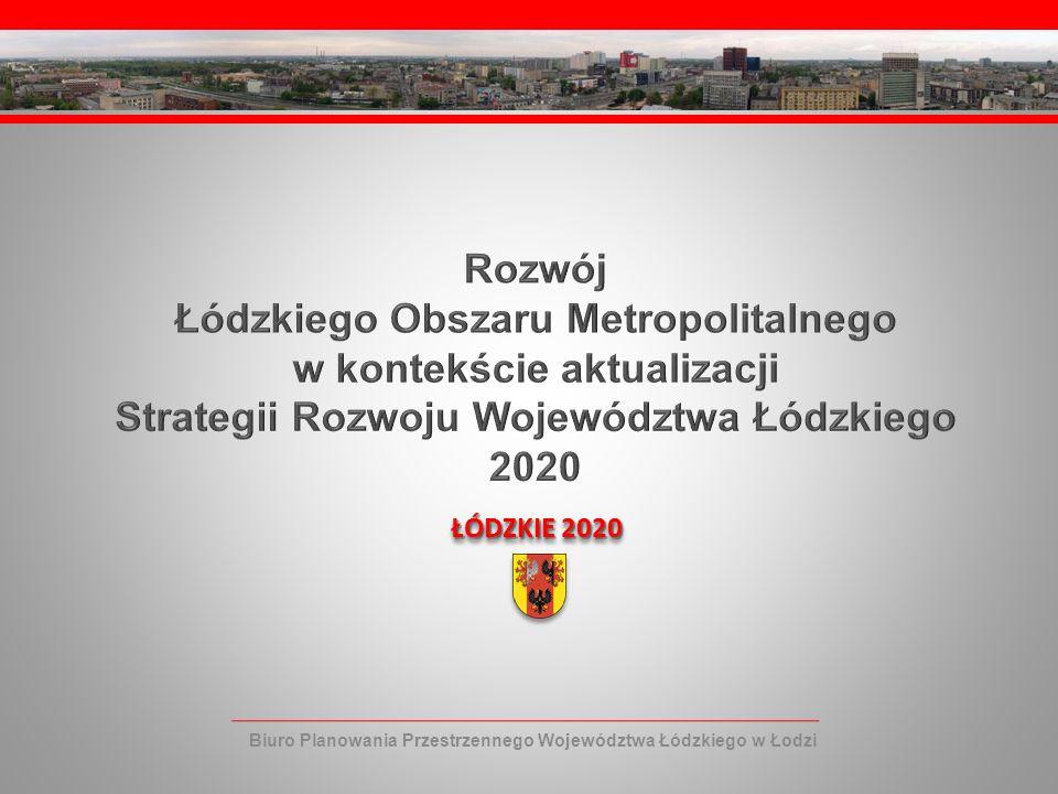 Łódzkiego Obszaru Metropolitalnego w kontekście aktualizacji