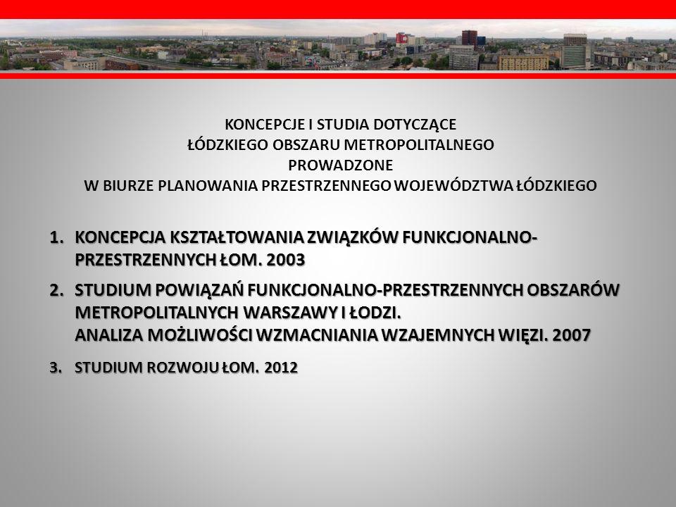KONCEPCJA KSZTAŁTOWANIA ZWIĄZKÓW FUNKCJONALNO-PRZESTRZENNYCH ŁOM. 2003