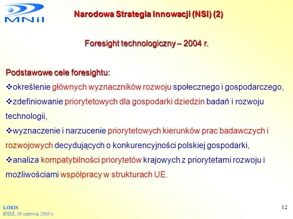 Foresight technologiczny – 2004 r.