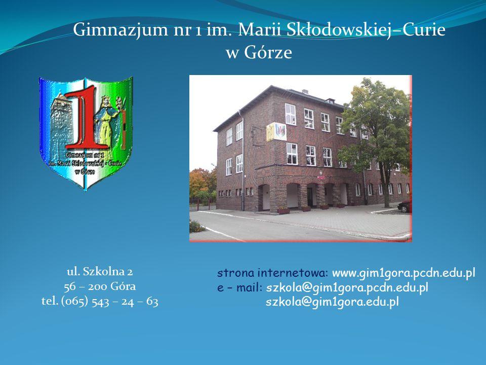 Gimnazjum nr 1 im. Marii Skłodowskiej–Curie
