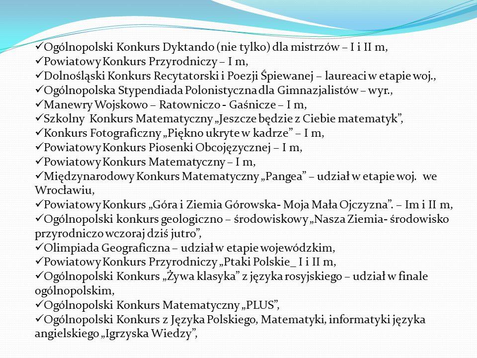 Ogólnopolski Konkurs Dyktando (nie tylko) dla mistrzów – I i II m,