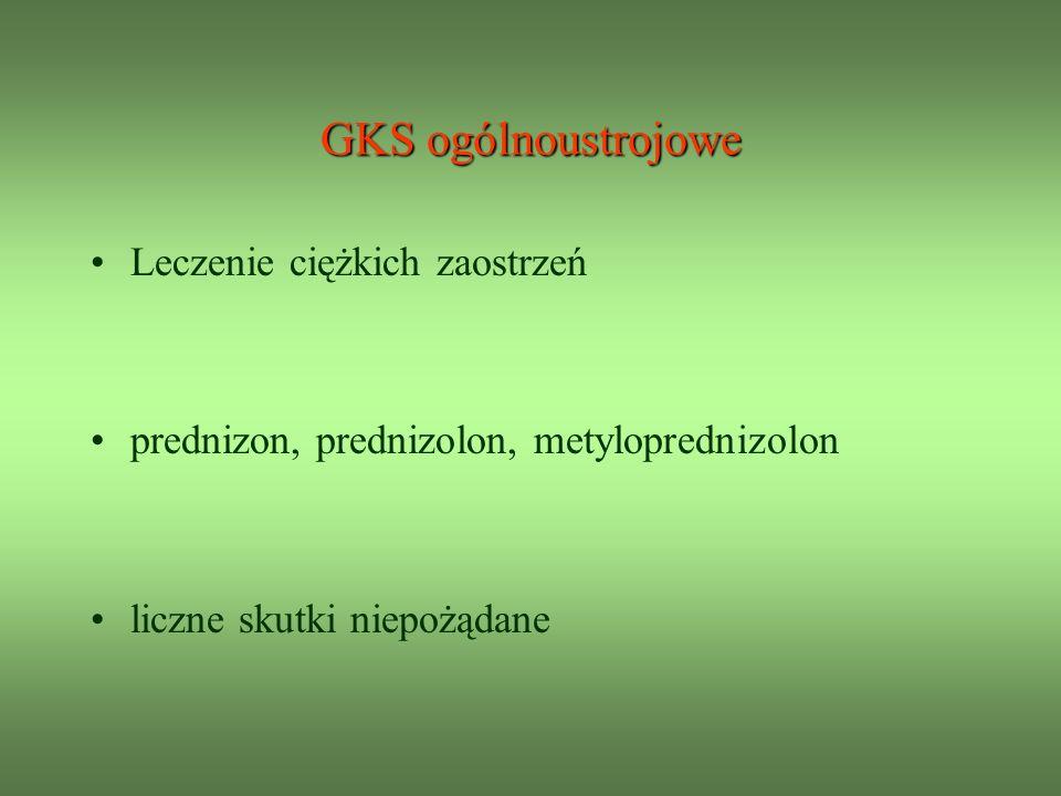 GKS ogólnoustrojowe Leczenie ciężkich zaostrzeń