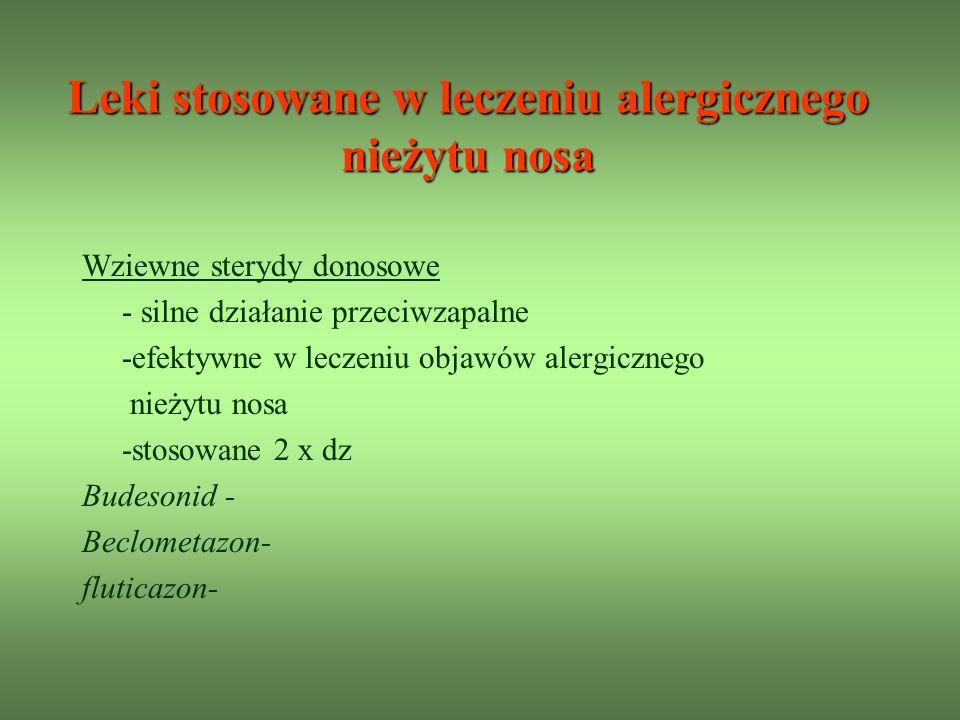 Leki stosowane w leczeniu alergicznego nieżytu nosa