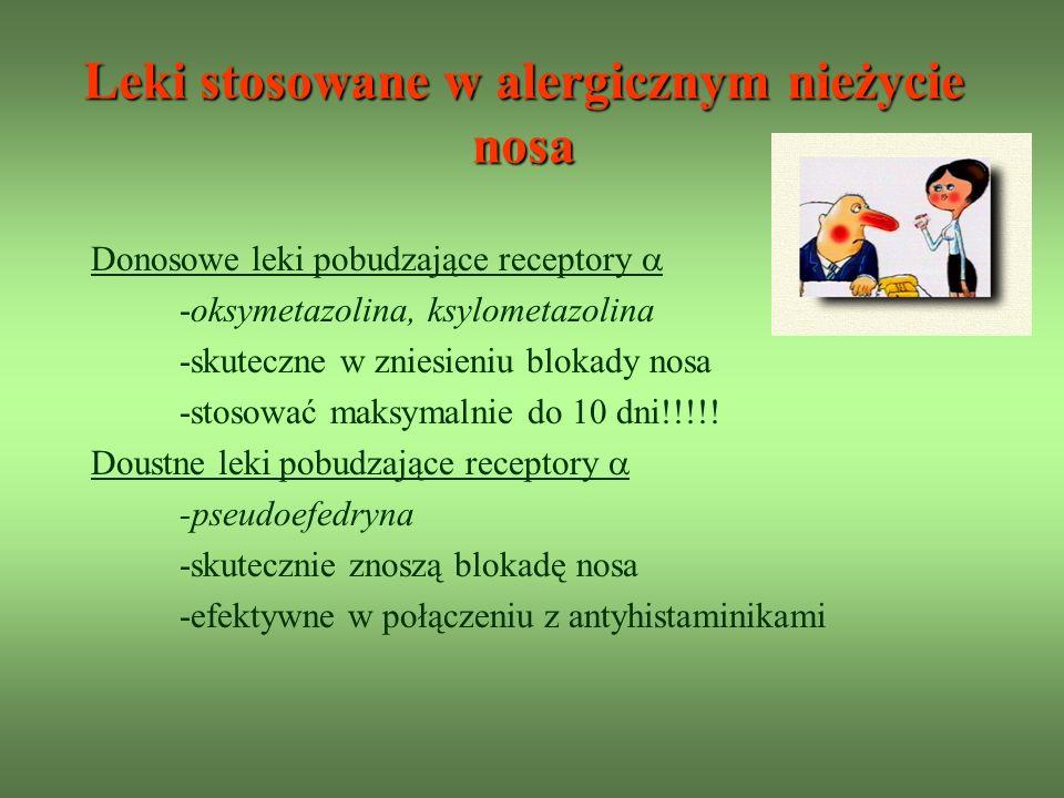 Leki stosowane w alergicznym nieżycie nosa
