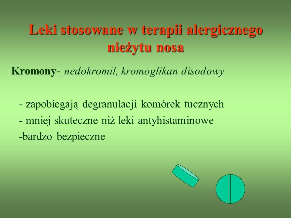 Leki stosowane w terapii alergicznego nieżytu nosa