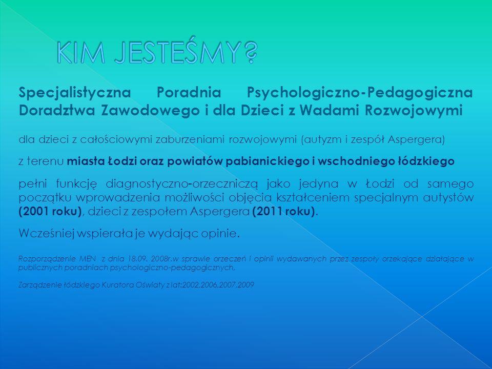 KIM JESTEŚMY Specjalistyczna Poradnia Psychologiczno-Pedagogiczna Doradztwa Zawodowego i dla Dzieci z Wadami Rozwojowymi.