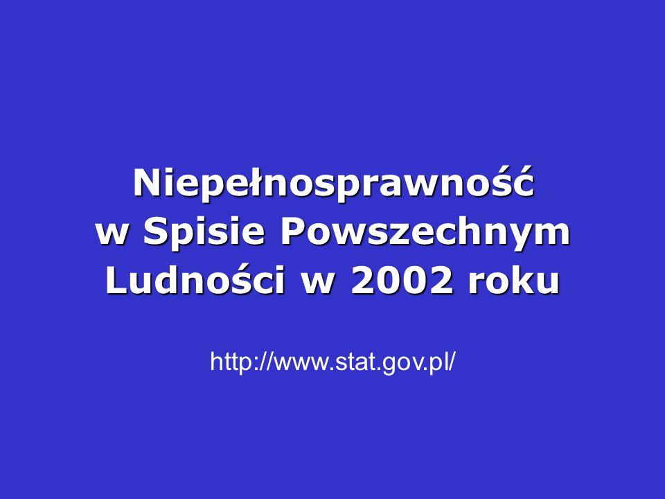 Niepełnosprawność w Spisie Powszechnym Ludności w 2002 roku