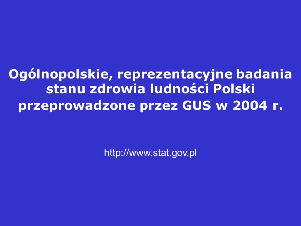 Ogólnopolskie, reprezentacyjne badania stanu zdrowia ludności Polski