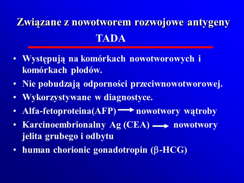 Związane z nowotworem rozwojowe antygeny