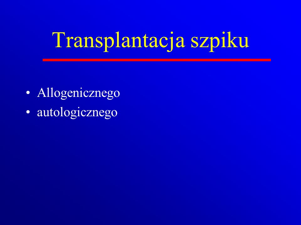 Transplantacja szpiku