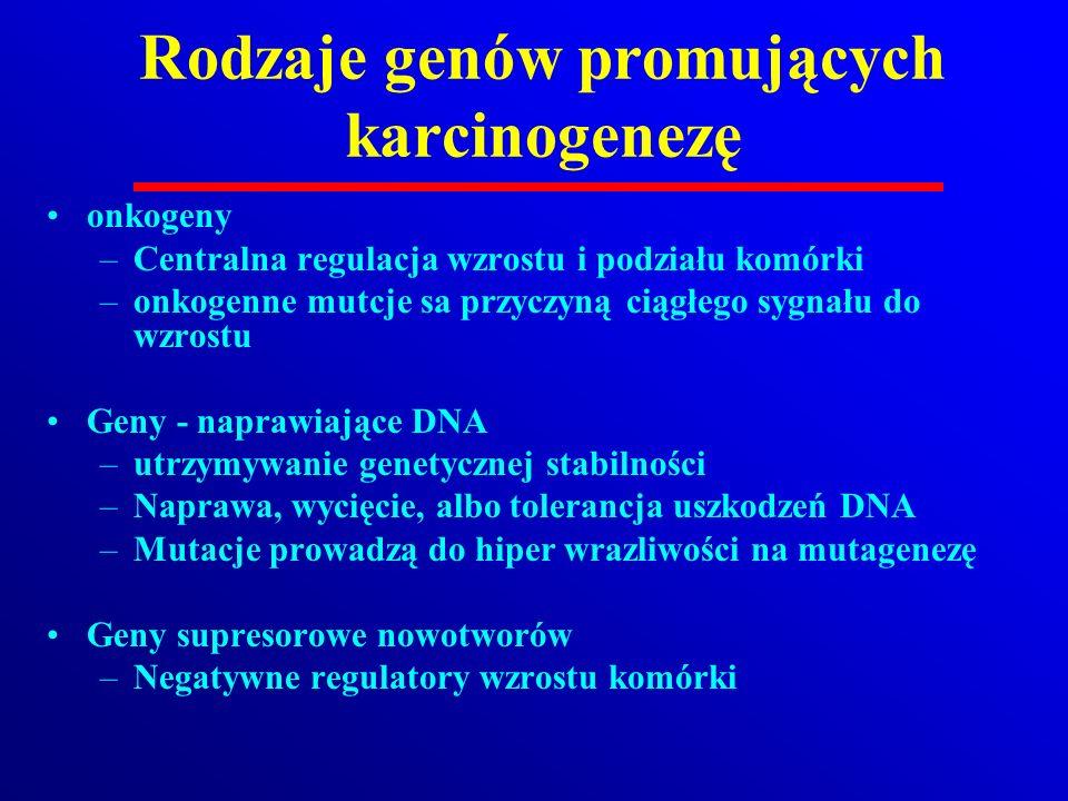 Rodzaje genów promujących karcinogenezę
