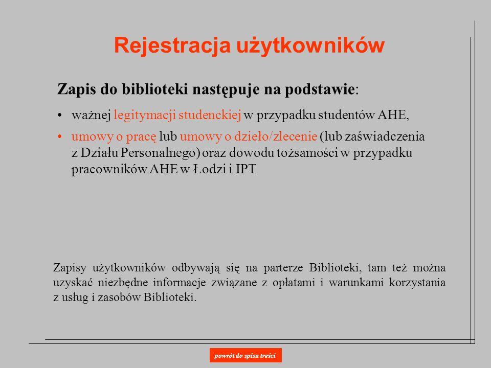 Rejestracja użytkowników
