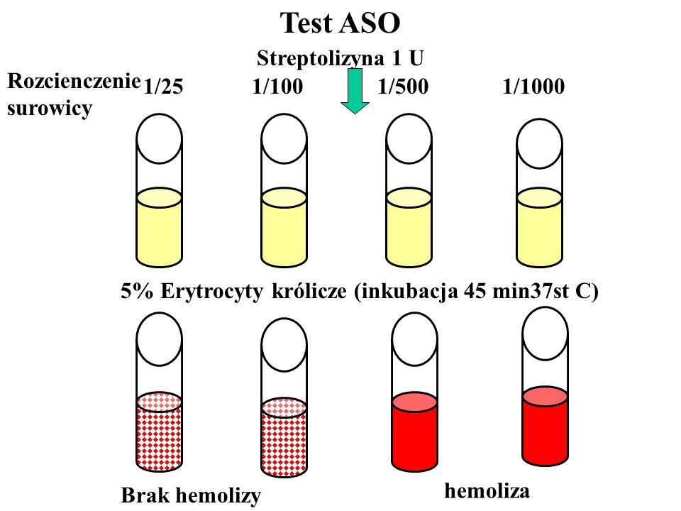 Test ASO Streptolizyna 1 U Rozcienczenie surowicy
