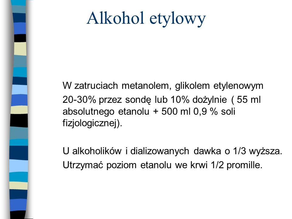Alkohol etylowy W zatruciach metanolem, glikolem etylenowym