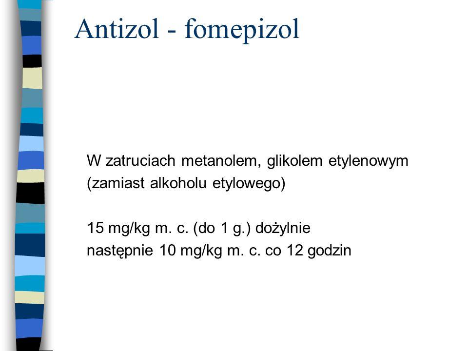 Antizol - fomepizol W zatruciach metanolem, glikolem etylenowym