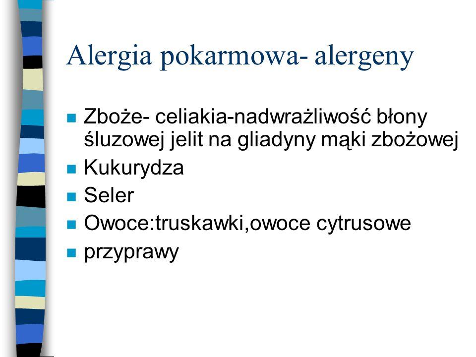 Alergia pokarmowa- alergeny