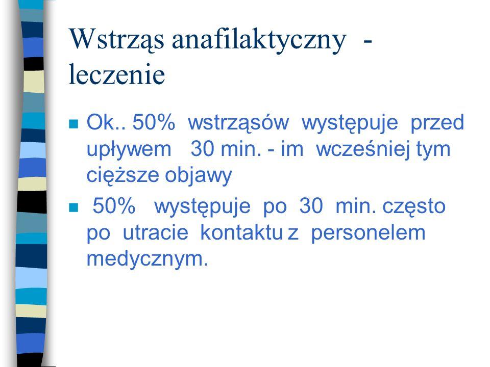 Wstrząs anafilaktyczny - leczenie
