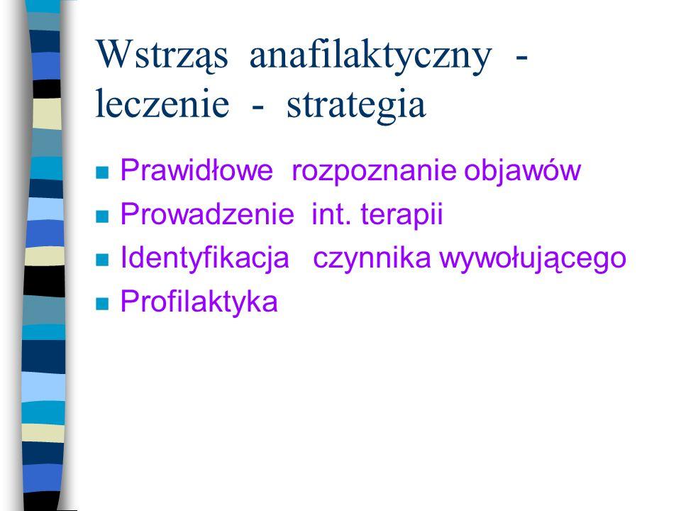 Wstrząs anafilaktyczny - leczenie - strategia