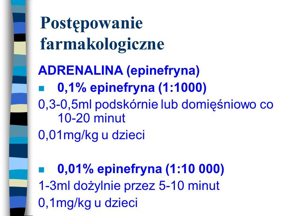 Postępowanie farmakologiczne