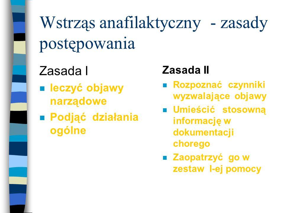 Wstrząs anafilaktyczny - zasady postępowania