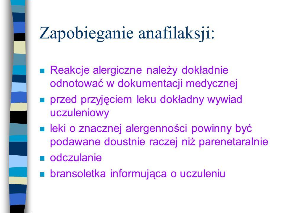 Zapobieganie anafilaksji: