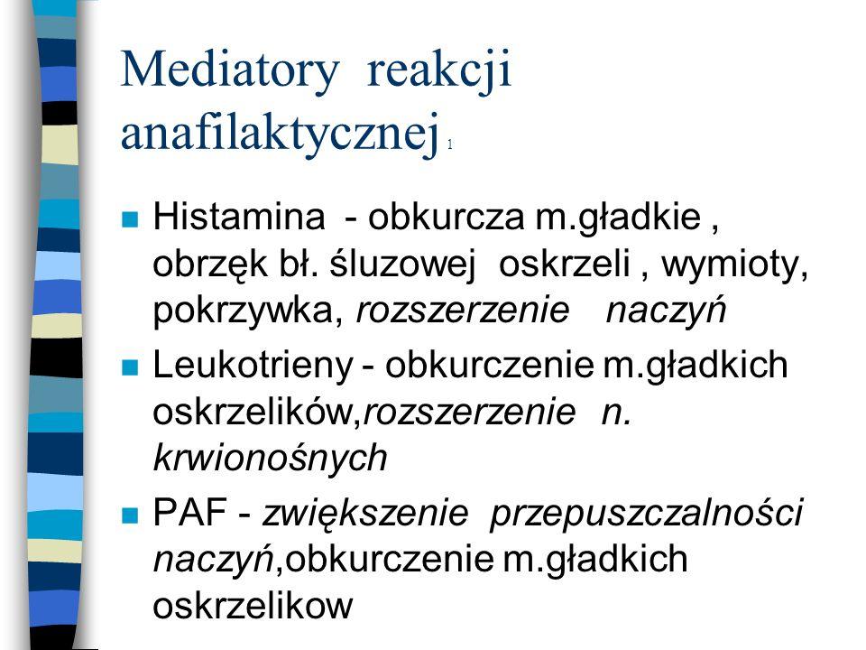 Mediatory reakcji anafilaktycznej 1