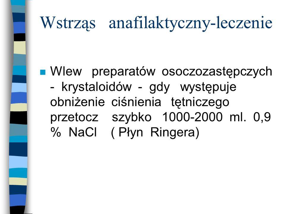 Wstrząs anafilaktyczny-leczenie