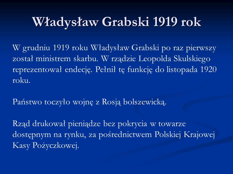 Władysław Grabski 1919 rok