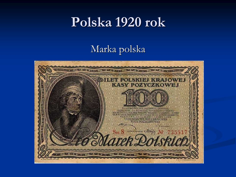 Polska 1920 rok Marka polska