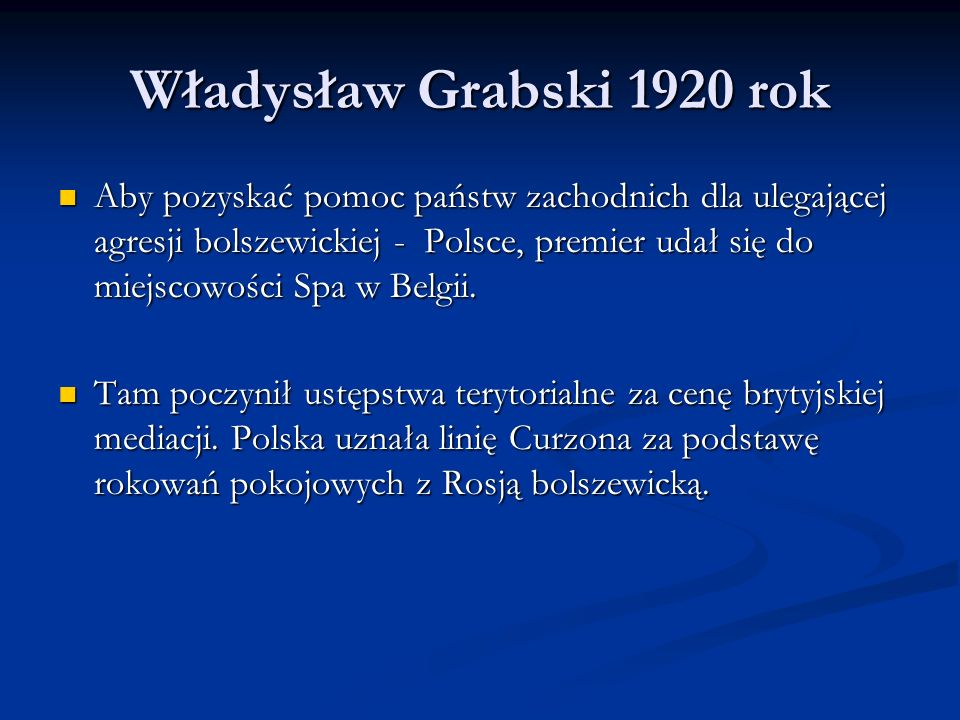 Władysław Grabski 1920 rok