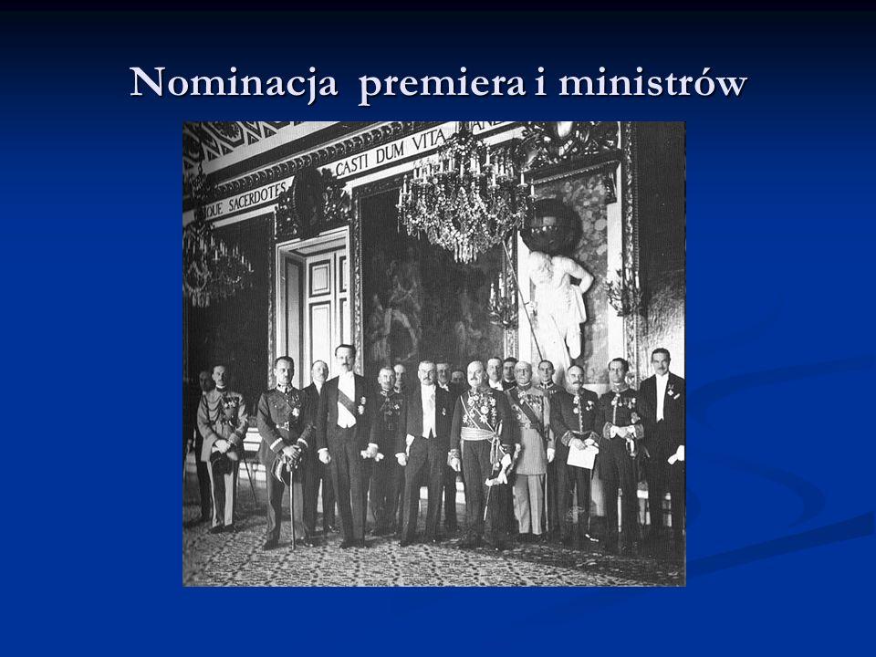 Nominacja premiera i ministrów