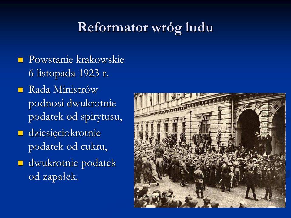 Reformator wróg ludu Powstanie krakowskie 6 listopada 1923 r.
