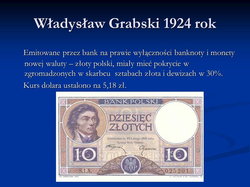 Władysław Grabski 1924 rok