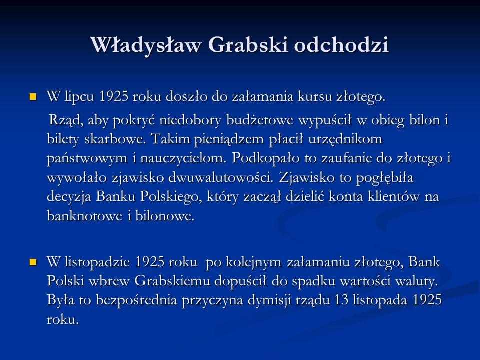 Władysław Grabski odchodzi