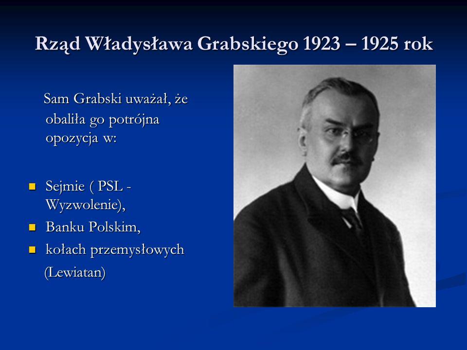 Rząd Władysława Grabskiego 1923 – 1925 rok