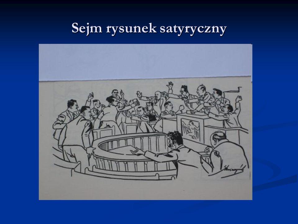 Sejm rysunek satyryczny