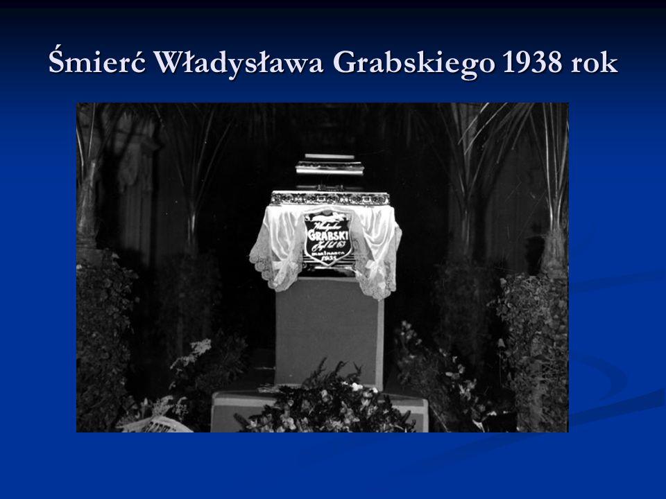 Śmierć Władysława Grabskiego 1938 rok
