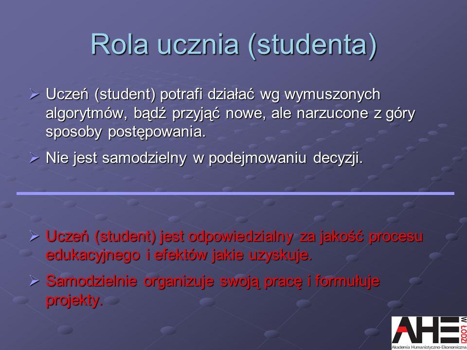 Rola ucznia (studenta)