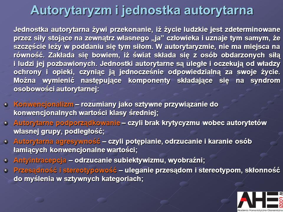 Autorytaryzm i jednostka autorytarna
