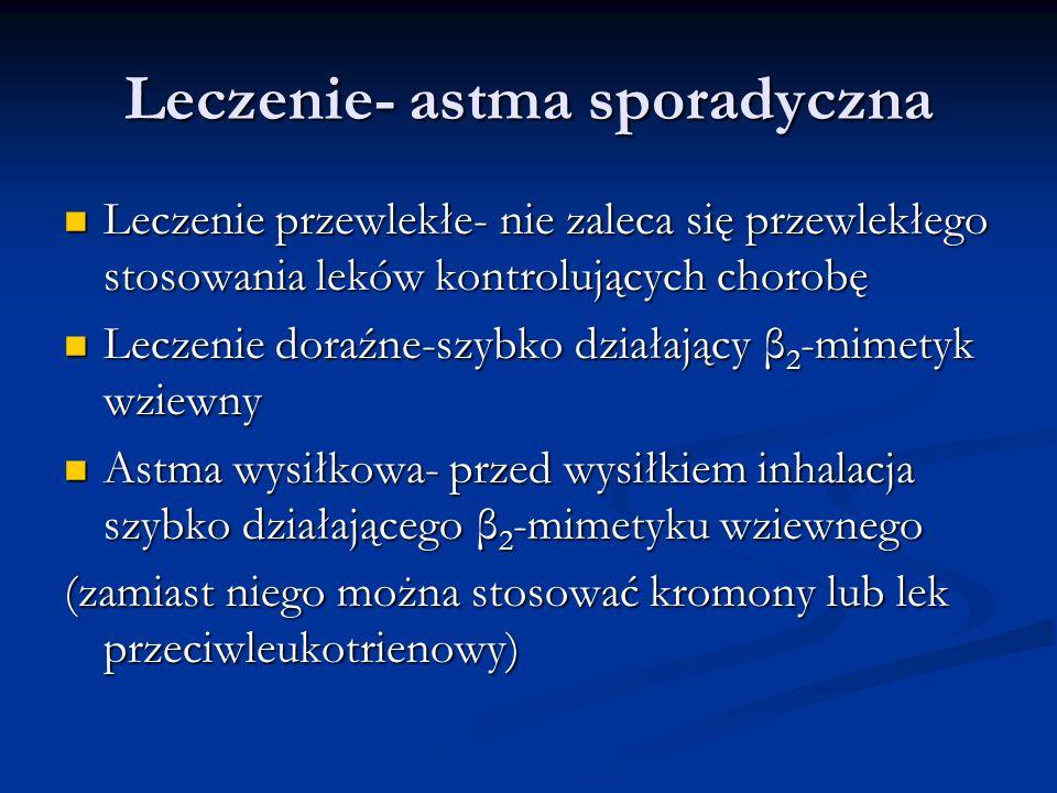 Leczenie- astma sporadyczna