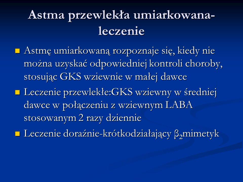 Astma przewlekła umiarkowana-leczenie