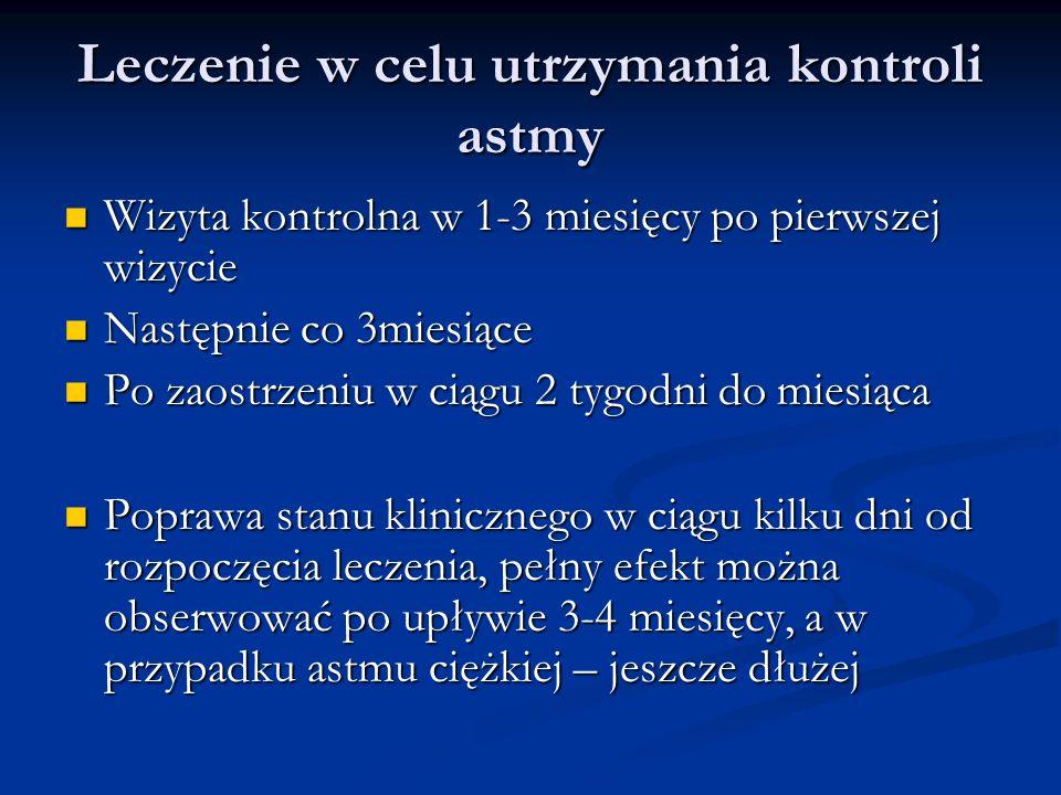 Leczenie w celu utrzymania kontroli astmy