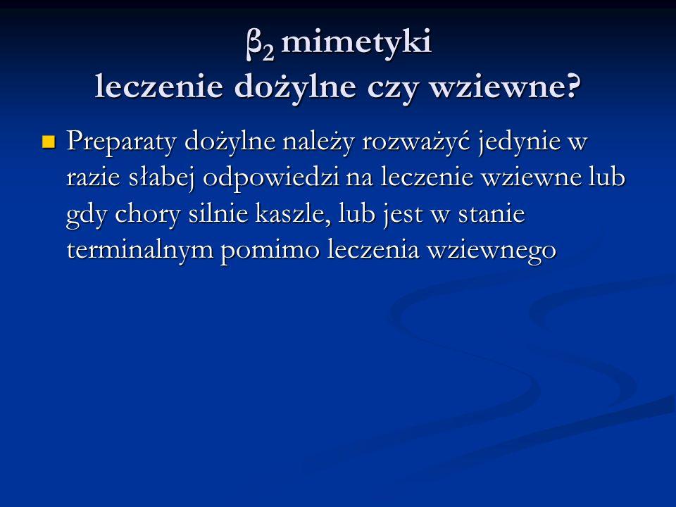 β2 mimetyki leczenie dożylne czy wziewne