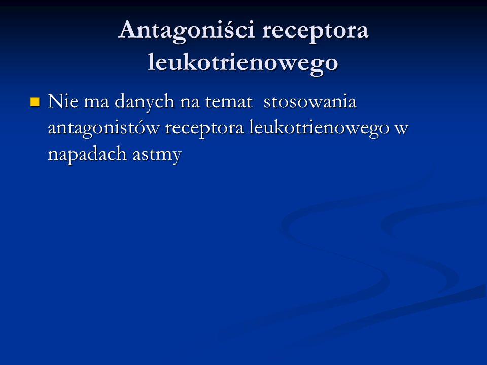 Antagoniści receptora leukotrienowego