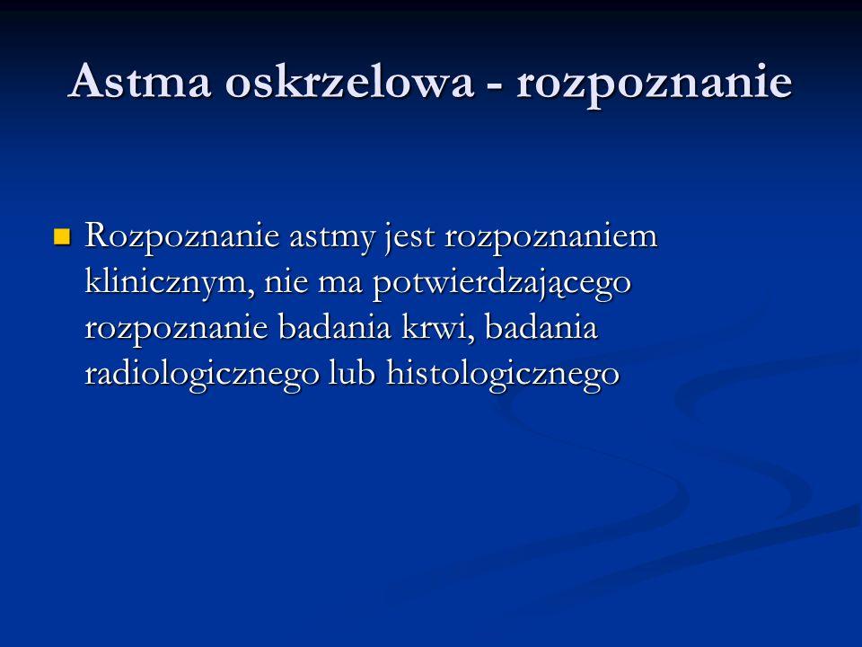 Astma oskrzelowa - rozpoznanie