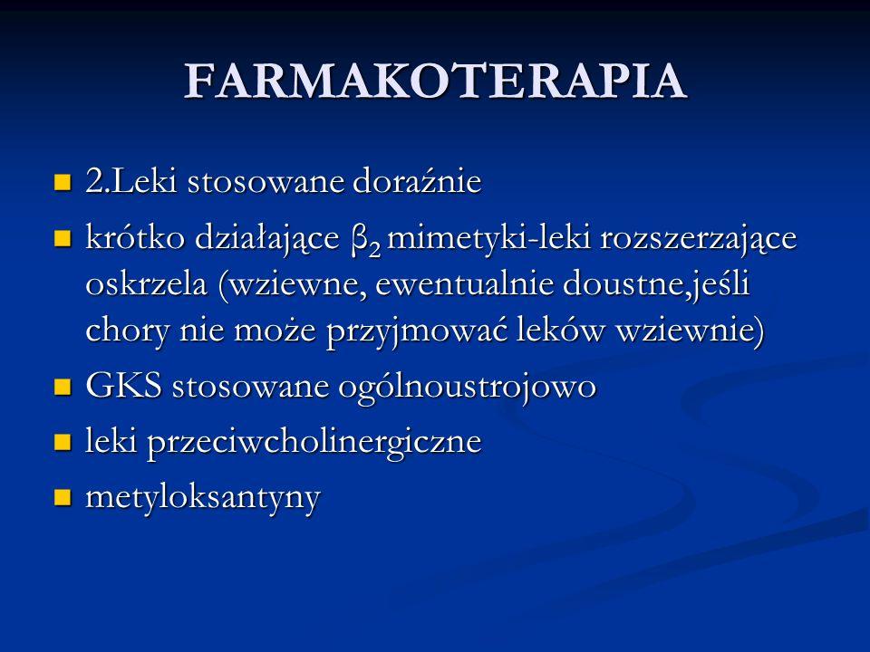FARMAKOTERAPIA 2.Leki stosowane doraźnie